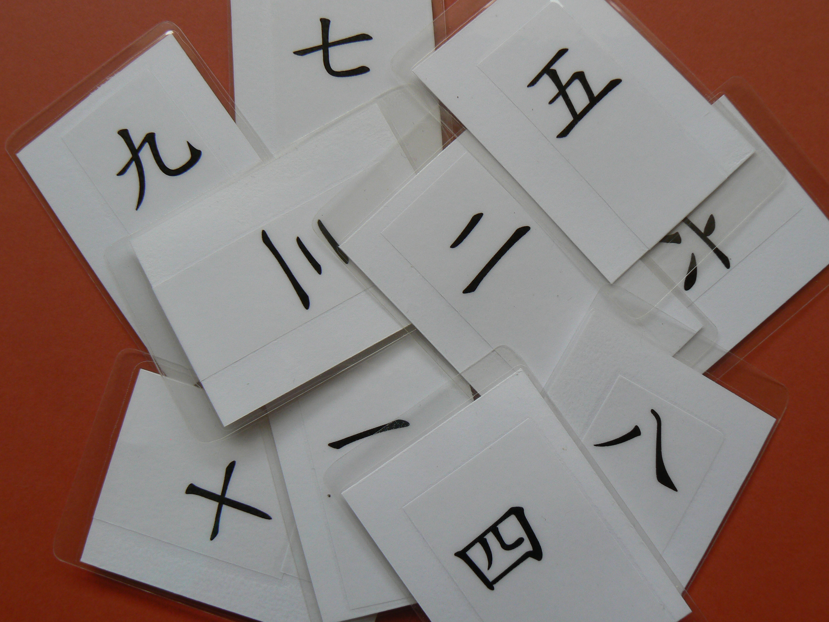 Learn to count using Chinese character cards