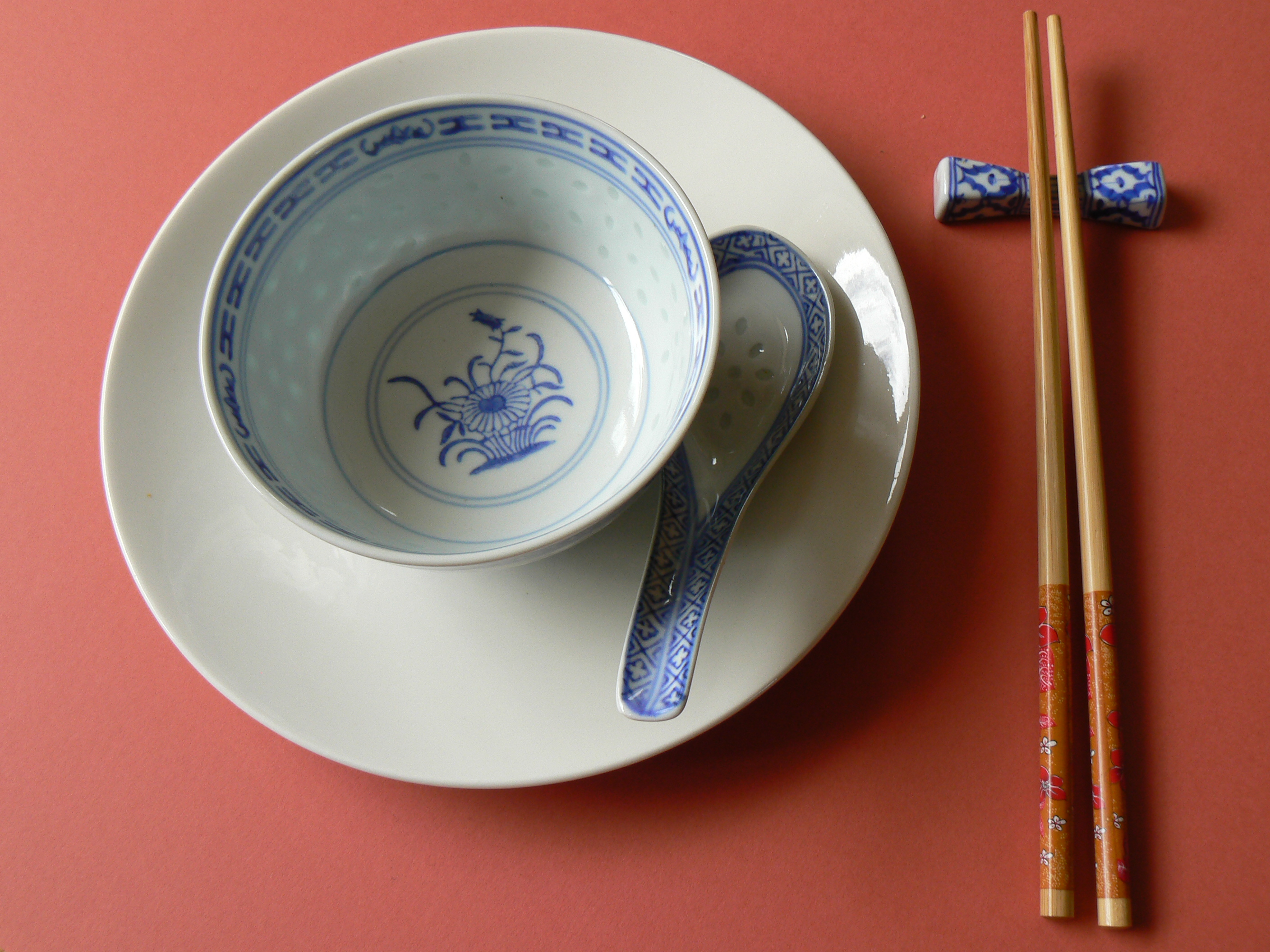 Bowl spoon and chopsticks